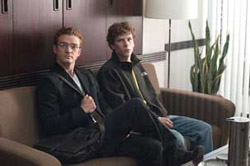 Justin Timberlake and Jesse Eisenberg in The Social Network (© Columbia TriStar Pictures)