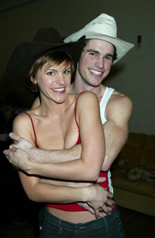 Matt Cavenaugh and Jenn Colellaat a press preview for Urban Cowboy(Photo: © Joseph Marzullo)