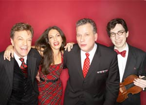 Jim Caruso, Hilary Kole, Billy Stritch and Aaron Weinstein