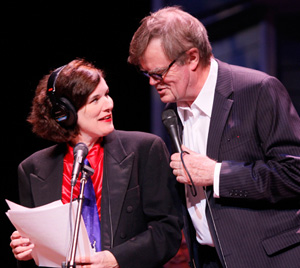 Paula Poundstone and Garrison Keillor in