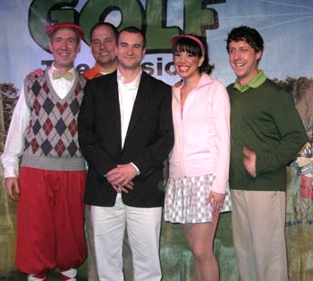 Sgt. Salvatore A. Giunta with the cast of Golf: The Musical