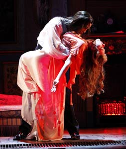 Michel Altieri and Emily Bridges in Dracula