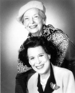 Anne Kaufman Schneider (top)and Kitty Carlisle Hart(Photo © Mike Martin)