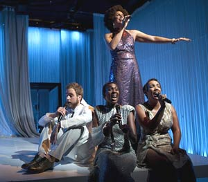 Jomama Jones (standing) with Bobby Halvorson,