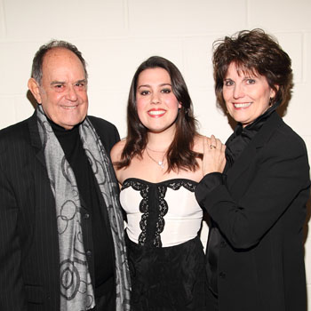 Laurence Luckinbill, Katherine Luckinbill, and Lucie Arnaz