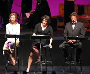 Calista Flockhart, Stockard Channing, and Tim Curryin All About Eve(Photo: © Michael LaMont)
