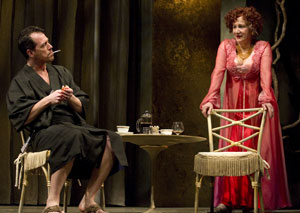 Darren Pettie and Olympia Dukakis in The Milk Train Doesn't Stop Here Anymore (© Joan Marcus)