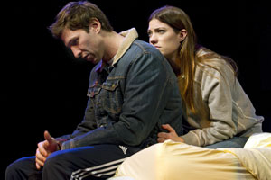 Pablo Schreiber and Jennifer Carpenter
