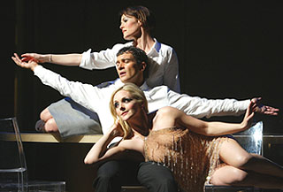 Banderas, Mary Stuart Masterson (top), and Jane Krakowski in Nine(Photo: © Joan Marcus)