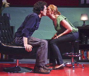 Tommy Schrider and Polly Lee in How I Fell in Love (© Kim T. Sharp)