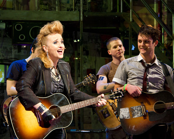 Melissa Etheridge and the cast of American Idiot