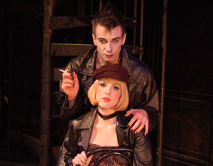 Jon Peterson and Kate Fahrner in Cabaret