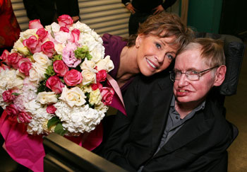Jane Fonda and Stephen Hawking