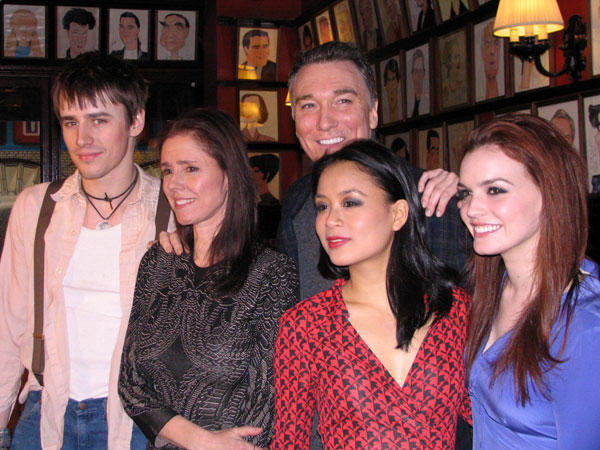 Reeve Carney, Julie Taymor, Patrick Page, T.V. Carpio, and Jennifer Damiano