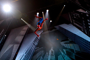 A scene from Spider-Man: Turn Off the Dark