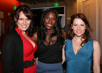 Emily Swallow, Rutina Wesley and Mia Barron