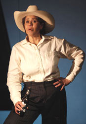Anna Deavere Smith in Let Me Down Easy (© Joan Marcus)