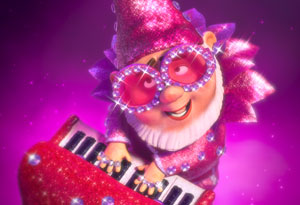 Elton John gnome from Gnomeo and Juliet