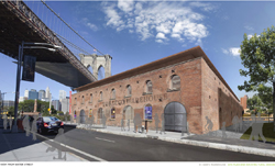 Rendering of the proposed Tobacco Warehouse facility by H3 Hardy Collaborative Architecture courtesy of St. Ann's Warehouse