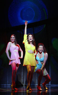 (l-r) Shannon Lewis, Janine LaManna,and Rachelle Rak in The Look of Love(Photo © Joan Marcus)