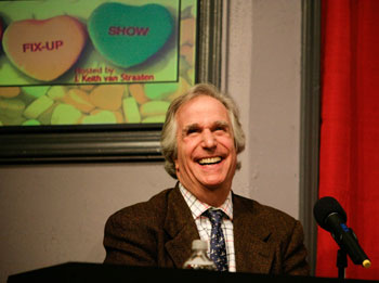 Henry Winkler on the set of The Fix-Up Show