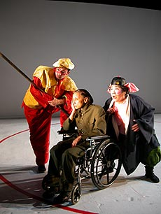 Eric Steinberg, Ching Valdes-Aran, and Kati Kuroda in Last of the Suns