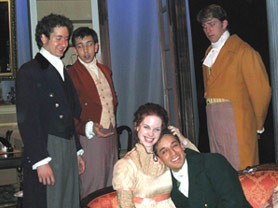 Tony Vallés, Damian Long, Kelly Snyder, Blake Hackler,and Benjamin Eakley in The Alchemists