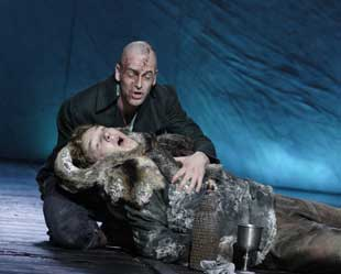 Jonny Lee Miller and Benedict Cumberbatch in Frankenstein