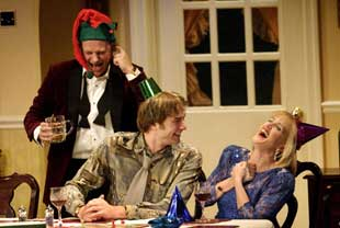 Neil Stuke, Oliver Chris, and Jenna Russellin Season's Greetings