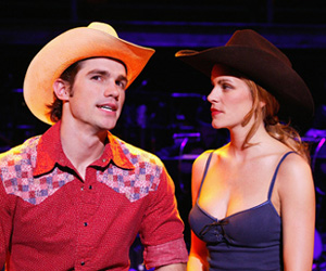 Matt Cavenaugh and Jenn Colella in Urban Cowboy(Photo © Paul Kolnik)