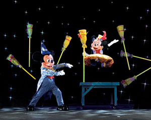 A scene from Mickey's Magic Show