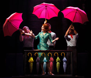 Joanna Riding and company in The Umbrellas of Cherbourg