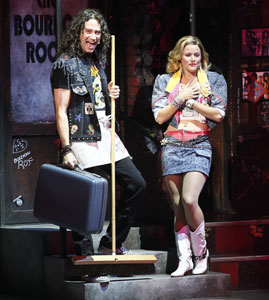 Constantine Maroulis and Rebecca Faulkenberry in Rock of Ages (© Winslow Townson)