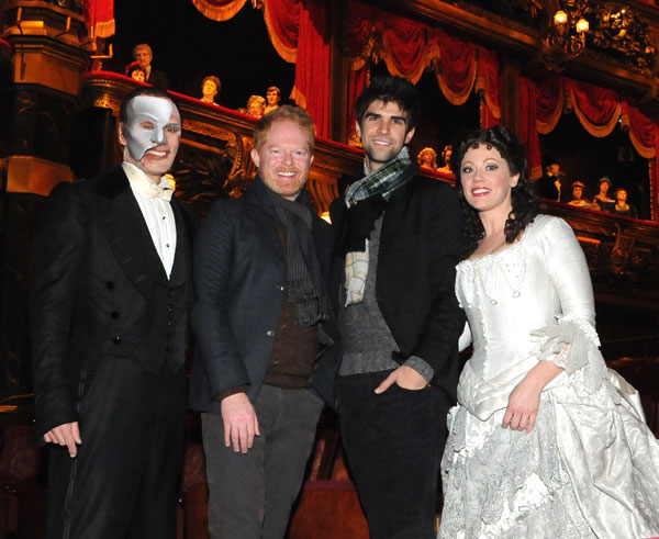 Anthony Crivello, Jesse Tyler Ferguson, Justin Mikita, and Kristi Holden