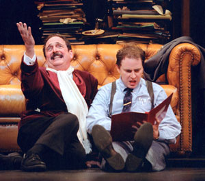 Stadlen and Stephenson as Bialystock & Bloom(Photo © Paul Kolnik)
