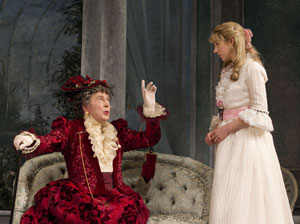 Brian Bedford and Charlotte Parry in