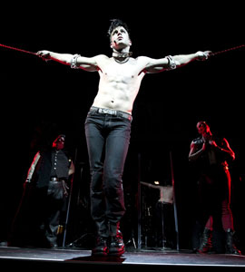 Lea DeLaria, Gavin Creel, and Michael Cunio