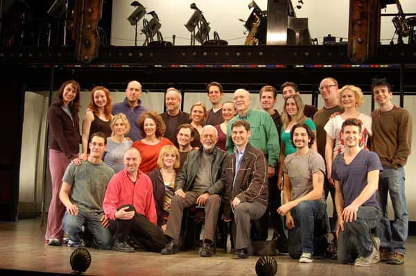 Joe Masteroff (center) with the company of Cabaret
