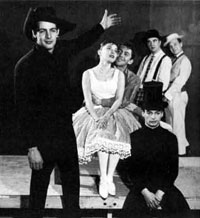 The original cast of The Fantasticks
