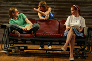 Merritt Wever, Jenny Maguire, and Shannon Burkettin Cavedweller(Photo © Joan Marcus)