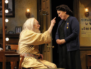 Ken Ruta and Lynne Soffer in The Dresser