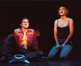 Matt Cavenaugh and Jenn Colella in Urban Cowboy