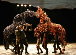 A scene from the National Theatre production of War Horse