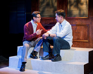 James Saito and Joel de la Fuente in A Number