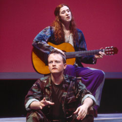 Jessica Bates and Glenn Peters in American Dreams: Lost and Found(Photo © Carol Rosegg)