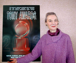 "Marian Seldes says: ""Welcome to Tony Awards season!""(Photo © Michael Portantiere)"