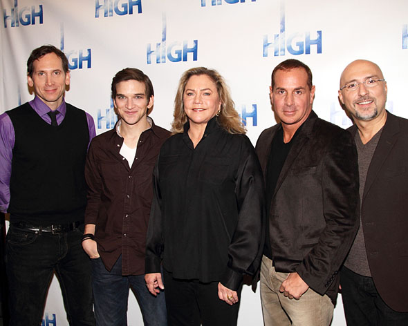Stephen Kunken, Evan Jonigkeit, Kathleen Turner,  Matthew Lombardo, and Rob Ruggiero