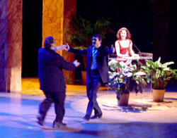 Harvey Fierstein, Antonio Banderas,and Bebe Neuwirth(Photo © Roger An)