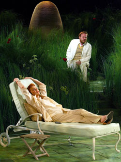 Blair Brown and Jared Harris in Humble Boy(Photo © Joan Marcus)