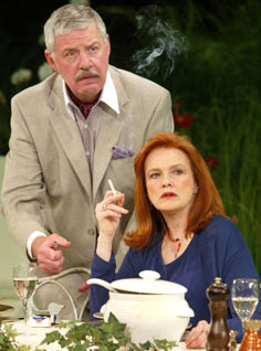 Paul Hecht and Blair Brown in Humble Boy(Photo © Joan Marcus)